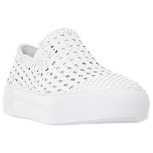 Buy Dune Black Eloquent Flatform Slip On Trainers, White Online at johnlewis.com