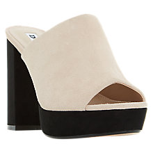 Buy Dune Megg Block Heeled Mule Sandals Online at johnlewis.com