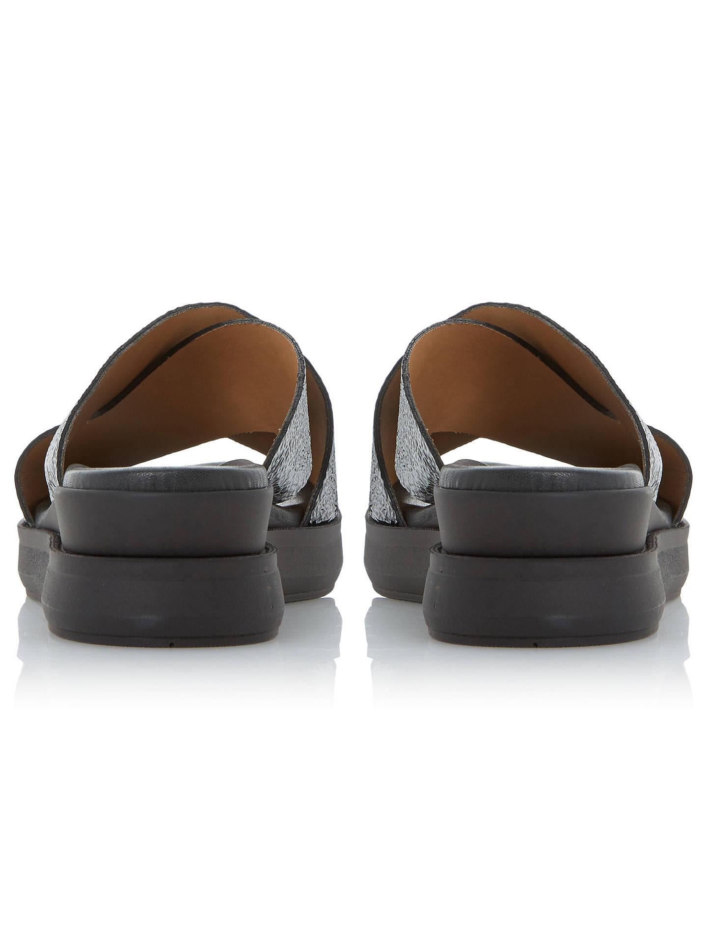 fbdf3958a19 Dune Black Lust Flatform Slider Sandals at John Lewis   Partners