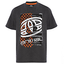 Buy Animal Boys' Printed T-Shirt, Charcoal Online at johnlewis.com