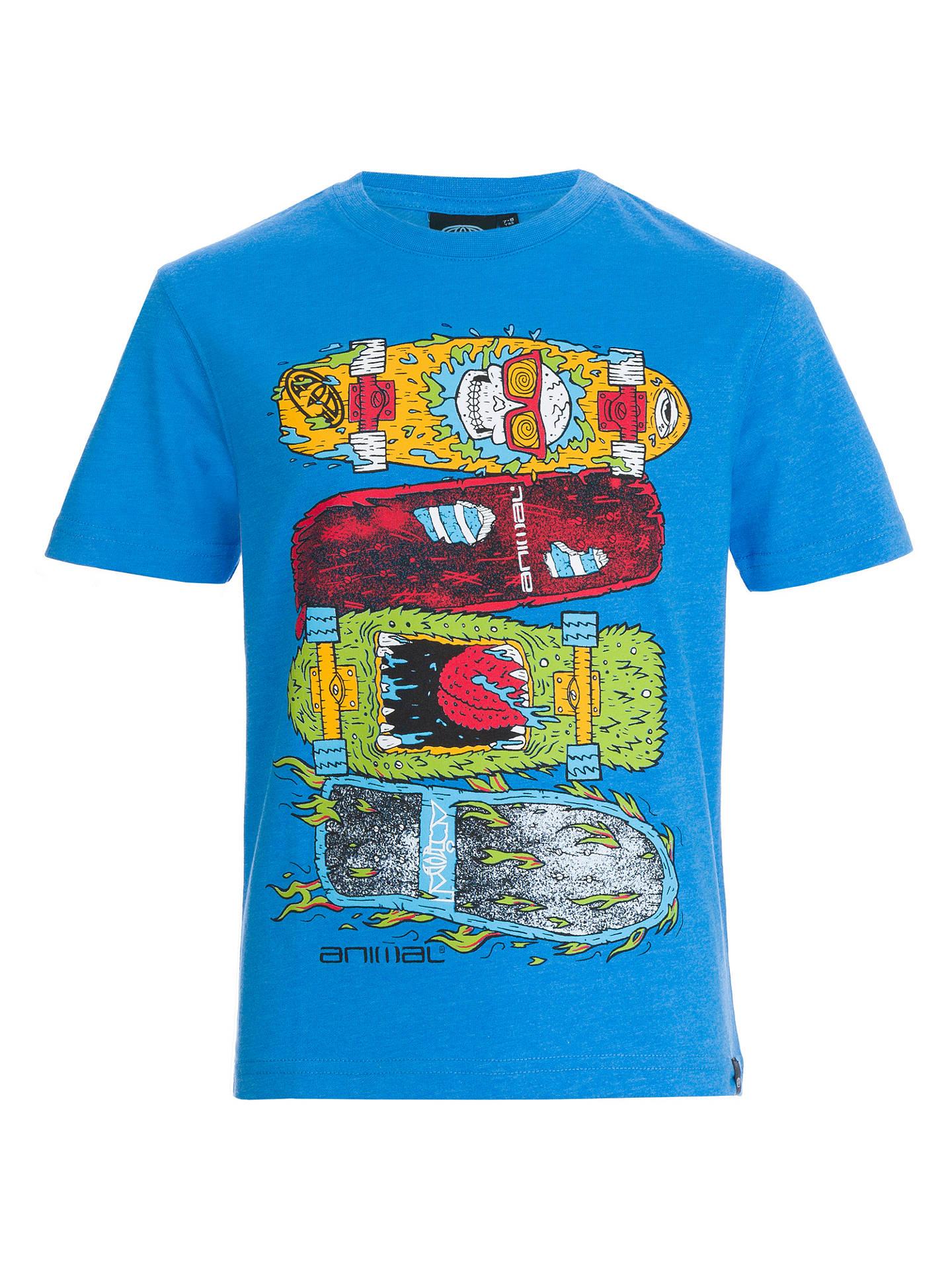 e1ec3ee2d7 Animal Boys' Skateboard Graphic T-Shirt, Blue at John Lewis & Partners