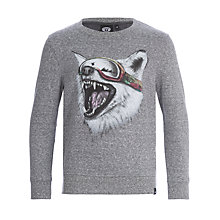 Buy Animal Boys' Echo Wolf Sweatshirt, Charcoal Online at johnlewis.com