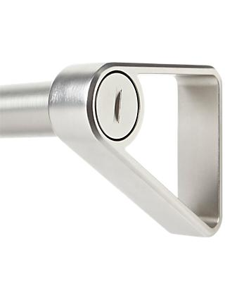 Umbra Covert Extendable Curtain Pole Kit, Satin Nickel, Dia.25mm