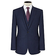 Buy Richard James Mayfair Speckled Wool Flannel Slim Suit Jacket, Cobalt Blue Online at johnlewis.com