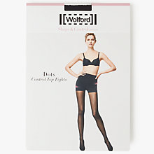 Buy Wolford Dots Control Top Tights, Black Online at johnlewis.com