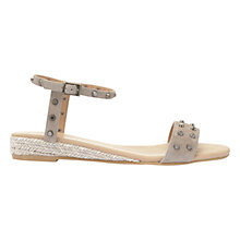Buy Mint Velvet Nadia Studded Sandals, Grey Online at johnlewis.com