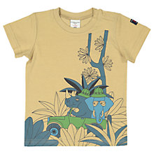Buy Polarn O. Pyret Baby Printed T-Shirt, Brown Online at johnlewis.com
