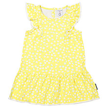 Buy Polarn O. Pyret Baby Ditsy Frill Dress, Yellow Online at johnlewis.com
