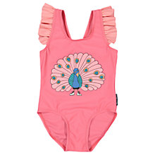Buy Polarn O. Pyret Baby Peacock Swimsuit, Pink Online at johnlewis.com