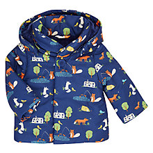 Buy John Lewis Bala Lake Print Removable Hood Coat, Navy Online at johnlewis.com