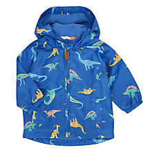 Buy John Lewis Dino Print Fleece Lined Hooded Mac, Multi Online at johnlewis.com