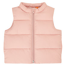 Buy John Lewis Baby Gilet, Pink Online at johnlewis.com