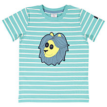 Buy Polarn O. Pyret Children's Striped T-Shirt, Green Online at johnlewis.com