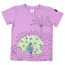 Buy Polarn O. Pyret Baby Printed T-Shirt, Purple Online at johnlewis.com