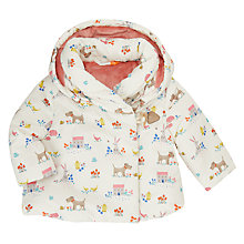 Buy John Lewis Baby Leckford Animal Print Hooded Coat, Cream Online at johnlewis.com
