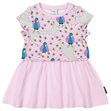 Buy Polarn O. Pyret Baby Peacock Print Dress, Pink Online at johnlewis.com