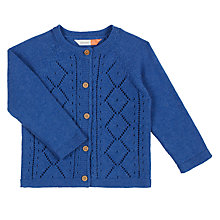 Buy John Lewis Baby Pointelle Cardigan, Blue Online at johnlewis.com
