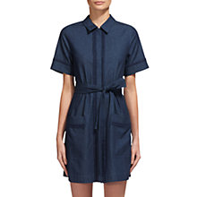 Buy Whistles Sylvia Pom Pom Trim Dress, Denim Online at johnlewis.com