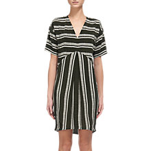Buy Whistles Josie Stripe Dress, Khaki Online at johnlewis.com