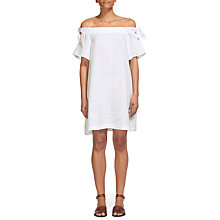 Buy Whistles Lila Tie Linen Bardot Dress Online at johnlewis.com