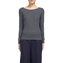 Buy Whistles Stripe Long Sleeve Top, Multi Online at johnlewis.com