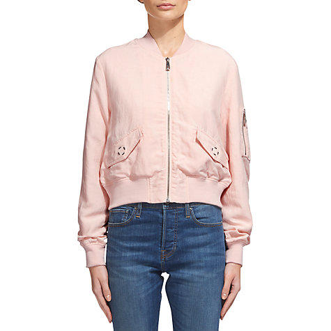 Buy Whistles Rudy Casual Bomber Jacket | John Lewis