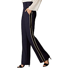 Buy Karen Millen Side Stripe Collection Trousers, Navy Online at johnlewis.com
