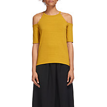 Buy Whistles Cold Shoulder Jersey Top, Yellow Online at johnlewis.com