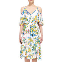 Buy Whistles Cold Shoulder Garden Dress, Multi Online at johnlewis.com