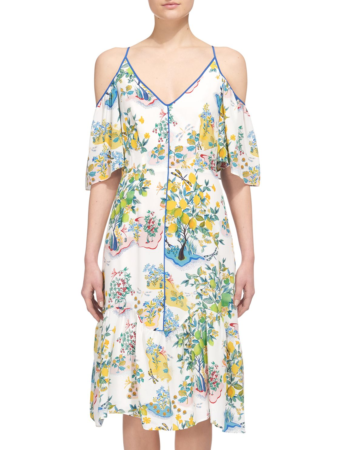 Buy Whistles Cold Shoulder Garden Dress Multi John Lewis