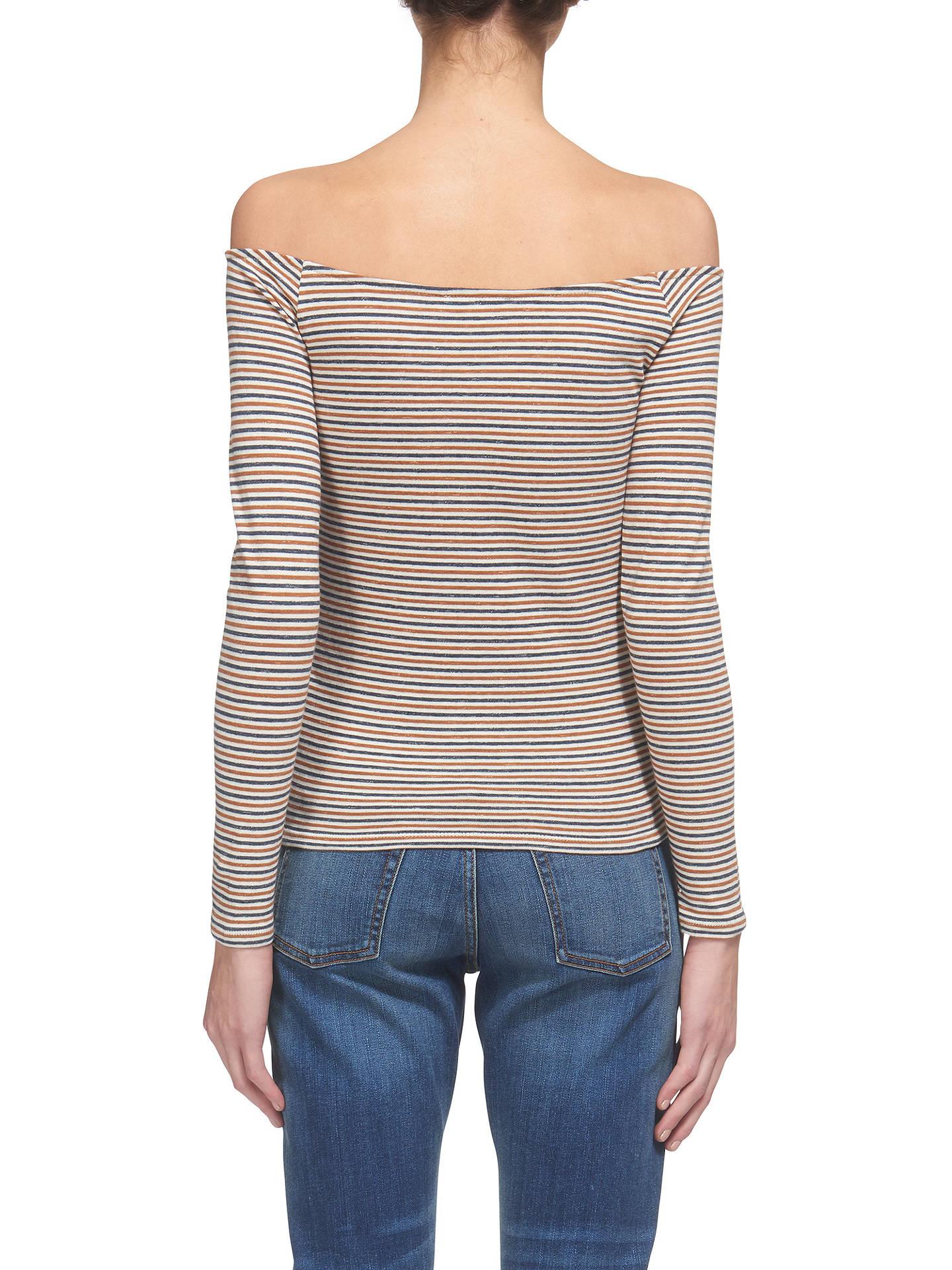 5ced356d68887 ... Buy Whistles Stripe Cotton Bardot Top