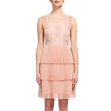 Buy Whistles Anouk Frill Lace Dress, Nude Online at johnlewis.com