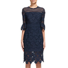 Buy Whistles Amanda Lace Dress, Navy Online at johnlewis.com