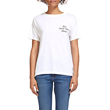 Buy Whistles Rue Sacre Coeur T-Shirt, White Online at johnlewis.com