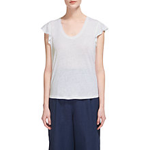 Buy Whistles Linen Frill Sleeveless Top Online at johnlewis.com