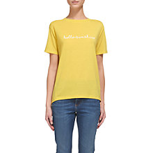 Buy Whistles Aloha Logo T-Shirt, Yellow Online at johnlewis.com