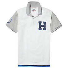 Buy Tommy Jeans Relax Badge Polo Shirt, Classic White Online at johnlewis.com