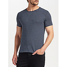 Buy J. Lindeberg Stripe T-Shirt, Multi Online at johnlewis.com