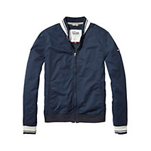 Buy Tommy Jeans Lightweight Bomber Jacket, Vulcan Online at johnlewis.com