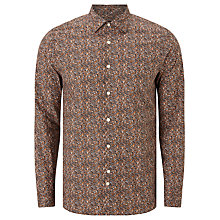 Buy J. Lindeberg Daniel Paint Splat Shirt, Rust Online at johnlewis.com