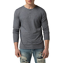 Buy Hilfiger Denim Basic Henley Knit, Grisaille Online at johnlewis.com