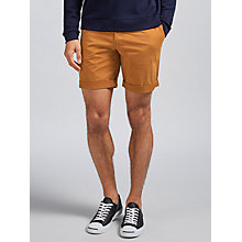 Buy J. Lindeberg Nathan Slim Fit Super Satin Shorts, Rust Online at johnlewis.com