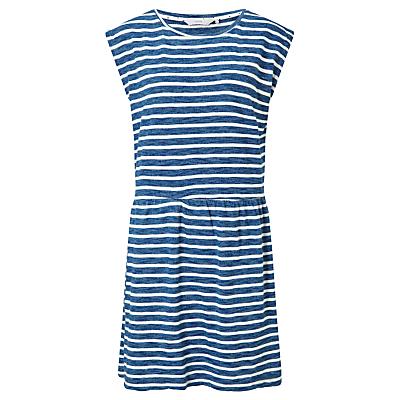 Numph Leonela Jersey Dress, Blue/White