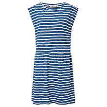 Buy Numph Leonela Jersey Dress, Blue/White Online at johnlewis.com