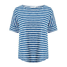Buy Numph Florinda Stripe T-Shirt, Blue/White Online at johnlewis.com