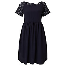 Buy Numph Lacy Dress, Ombre Blue Online at johnlewis.com