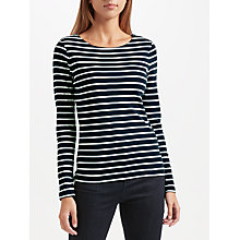Buy John Lewis Boat Neck Stripe Long Sleeve T-Shirt Online at johnlewis.com