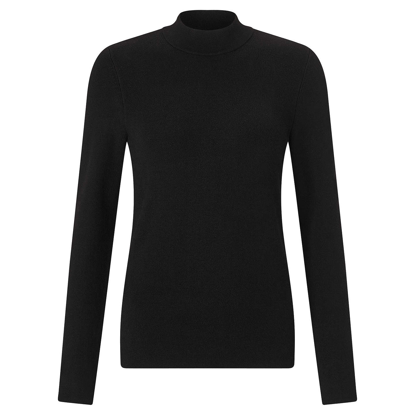 BuyJohn Lewis Turtle Neck Jumper, Black, 8 Online at johnlewis.com