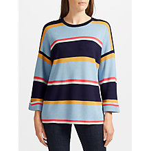 Buy Collection WEEKEND by John Lewis Textured Wide Sleeve Stripe Knit, Multi Online at johnlewis.com