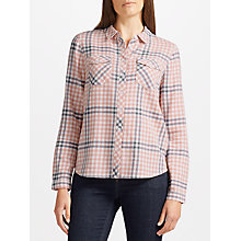 Buy Collection WEEKEND by John Lewis Jessa Check Shirt, Pink/Ivory Online at johnlewis.com